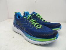 HOKA ONE ONE Men's Clifton 4 Running Shoe True Blue/Jasmine Green Size 11M