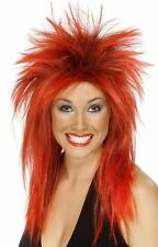 Rock Diva Wig Two 2 Tone 80s Long Mullet Adult Women's Fancy Dress Costume