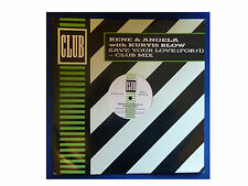 """RENE AND ANGELA with CURTIS BLOW * SAVE YOUR LOVE * 3 TCK 12"""" VINYL CLUB JABX 14"""