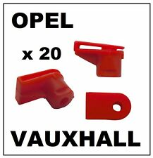 20 x VAUXHALL OPEL Bumper to Wing Plastic Moulding Grommet Clip Fasteners