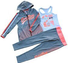 Completo tuta 3 pezzi cappuccio bambina ragazza jogging leggera taglie 4/12 anni