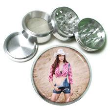 Farmers Daughter Pin Up Girls D2 63mm Aluminum Kitchen Grinder 4 Piece Herbs