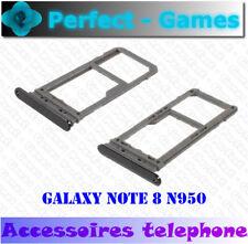 Samsung galaxy Note 8 rack tiroir slot carte SIM micro SD card tray holder noir