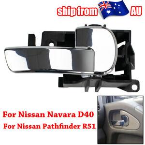 Right Inner Door Handle For Nissan Navara D40 Pathfinder R51 2005-2013 Chrome AU