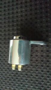 HARLEY DAVIDSON D SHAPED IGNITION SWITCH MOUNT WITH COVER POLISHED ALUMINIUM