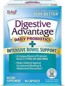 Intensive Bowel Support Probiotic Supplement - Digestive Advantage 96 Capsules