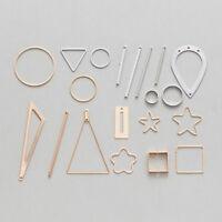 10 Piece Copper Charms Pendants Earring Findings Jewelry Making 10-50mm