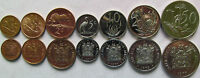 """South Africa set of 7 coins 1970+ """"1/2+1+2+5+10+20+50 Cents"""" UNC"""