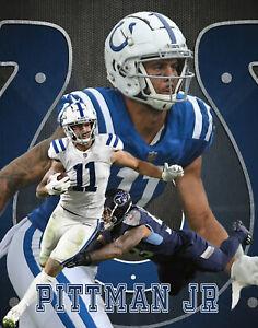 Indianapolis Colts Lithograph print of Michael Pittman Jr 11 x 14