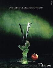 PUBLICITE ADVERTISING 094 1989  DAUM  CRISTAL   VASE NATURE              140914