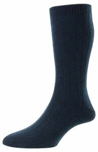 Pantherella Mens Waddington Cashmere Socks - Dark Turquoise Mix
