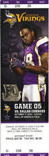 Dallas Cowboys vs Minnesota Vikings Ticket Stub 10/17/2010 - B. Favre 290 starts