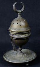 Ancien Brûle parfum oriental en bronze religion Islam mosquée musulman