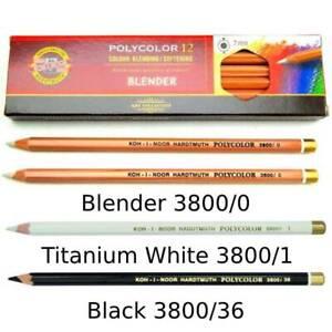 KOH I NOOR - Polycolor Colour Blending Softening Pencils - White Black Sketching