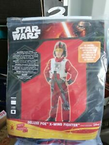 Star Wars Deluxe Poe X Wing Fighter Child Costume - Size: Age 7 - 8 *NEW*
