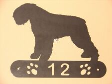 Bouvier Des Flandres Metal Home Address Sign House Dog