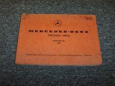 1968 1969 1970 1971 Mercedes Benz 250SL & 280SL Chassis Parts Catalog Manual