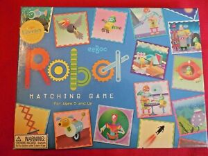 "2008 eeBoo ""Robot"" Matching Game: 48 Fun Tiles*Sharpen Memory Skills Ages 5+"