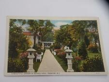 VINTAGE GARDEN BEVERLY HALL EDENTON NC postcard white border