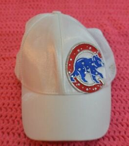 New Era Fits Chicago Cubs White Sequence Women Baseball Cap