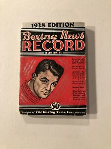 1938 Edition Boxing News Record Book James J. Braddock Cover
