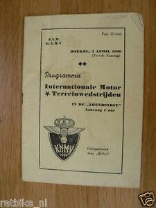 1956 INT MOTORCROSS BOEKEL 2-APRIL-1956 PROGRAMME MX VOS,HEIJDEN,VIERDAG,KOOPS