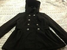 CELEBRITY PINK WOMAN'S PEA STYLE FITTED JACKET REMOVEABLE HOOD SIZE SMALL