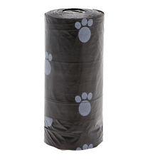 1Roll Pet Dog Waste Poop Bag Poo Printing Degradable Clean-up Black