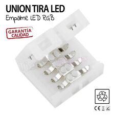 Conexion union empalme para TIRAS LED RGB SIN SOLDAR unir click conector 4 pin