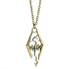 Charm Dragon Pendant Cool The Elder Skyrim Scrolls Logo Necklace Chain CHI