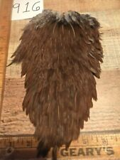 916 Brown Speckled Badger Hen Saddle Wet Fly Tying, Craft,Jewelry, Hair Feathers