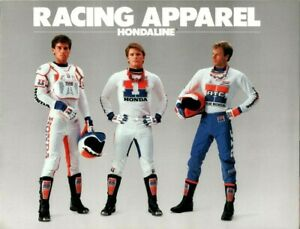 1986 Honda Racing Apparel Hondaline Clothing Catalog Ad Sales Brochure
