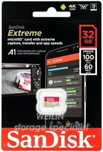 SanDisk Extreme 32 GB Micro SD SDHC 100MB UHS U3 V30 A1 Class 10 ULTRA HD 32G 4K