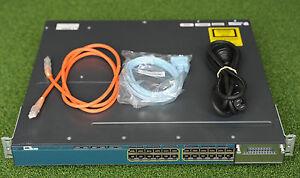 CISCO WS-C3560X-24P-S 3560X 24 Port POE Gigabit Data Network Switch -1YrWtyTxInv