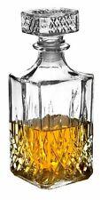 Whiskey Wine Bourbon Brandy Sherry Liqueur Alcohol Decanter Square Glass Bottle