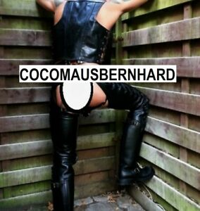 PREMIUM LEATHER CHAPS TROUSERS JEANS BREECHES UNIFORM BLUF GAY MR B ROB !!!