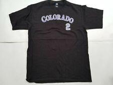 Black Colorado Rockies Troy Tulowitzki shirt jersey size Large