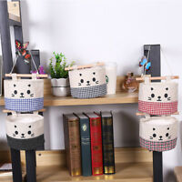 Home Lovely Cotton Cartoon Hanging Storage Bag Debris Pouch Wall Combination