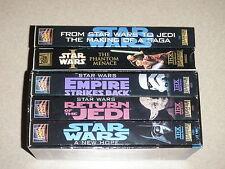 Lot Of 5 Star Wars Trilogy Box Set Making Of A Saga Star Wars I Jedi Empire VHS