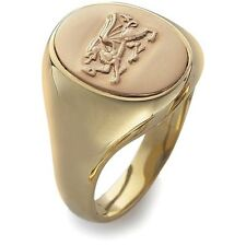 CLOGAU GOLD Welsh Dragon Signet Ring 9ct Gold Size Q - OSRD - RRP £1000 - NEW