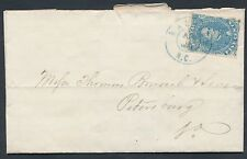 CSA #4 F-VF ON COVER TIED BY BLUE RALEIGH, NC APRIL 1862 CV $295.00 BP4211
