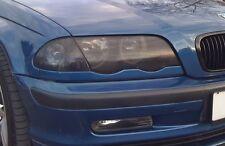 98-01 BMW E46 3 SERIES SEDAN SMOKE HEAD LIGHT PRECUT TINT COVER SMOKED OVERLAYS
