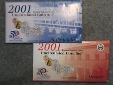 2001 United States Mint Set - Dollar Half Quarter Dime Nickel & Cent - P&D