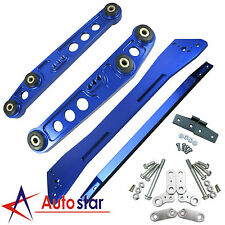 Blue Rear Lower Control Arm Subframe Brace Tie Bar For Honda Civic Acura Integra