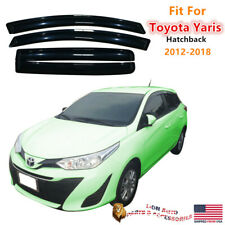 Fit For Toyota Yaris 2012-2018 Hatchback Acrylic Smoked Rain Guard Window Visors