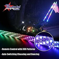 5FT Spiral LED Whips Auto Switching Chasing/Dancing LED Light Whip (ATVS/UTVS)