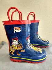 Team Paw Patrol First Responders Pull On Rain Boots Size Sm 5-6 Nickelodeon New
