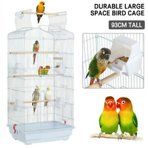 Large Metal Bird Cage for Budgie Parrot Parakeet Canary Cockatiel Finch Lovebird