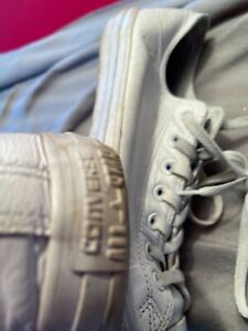 Men's leather converse trainers size 10