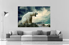 OURS POLAIRE POLAR BEAR SEA SKY Wall Art Poster Grand format A0 Large Print